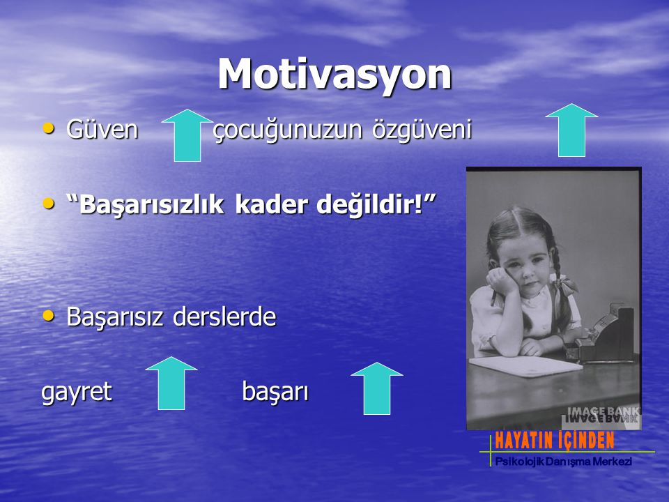 Motivasyon Güven çocuğunuzun özgüveni Başarısızlık kader değildir!