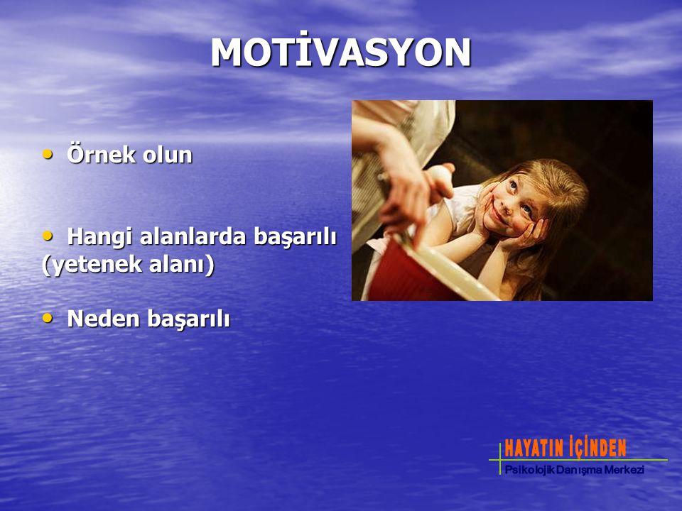 MOTİVASYON Örnek olun Hangi alanlarda başarılı (yetenek alanı)