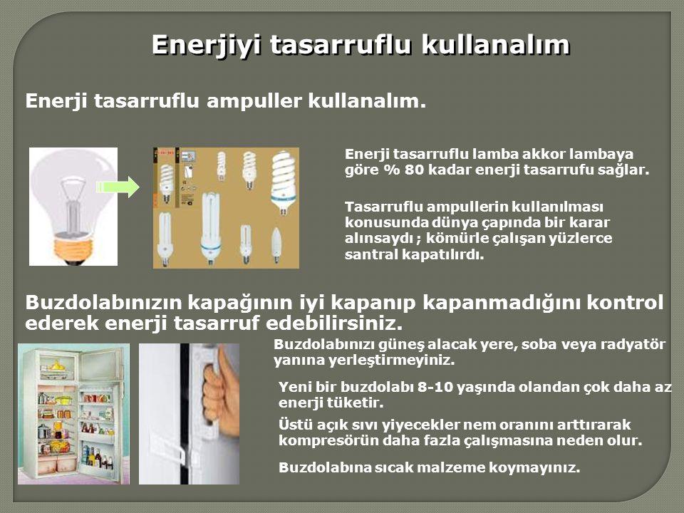 Enerjiyi tasarruflu kullanalım