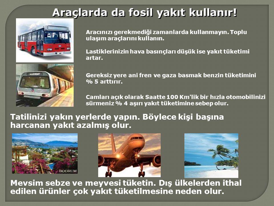 Araçlarda da fosil yakıt kullanır!