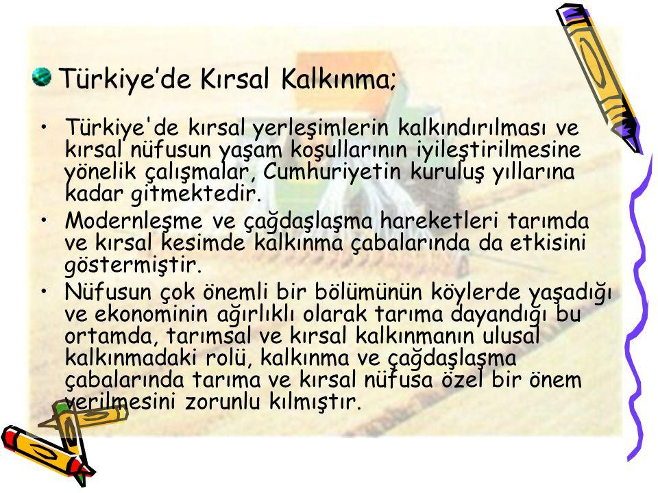 Türkiye'de Kırsal Kalkınma;