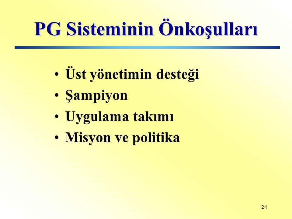 PG Sisteminin Önkoşulları