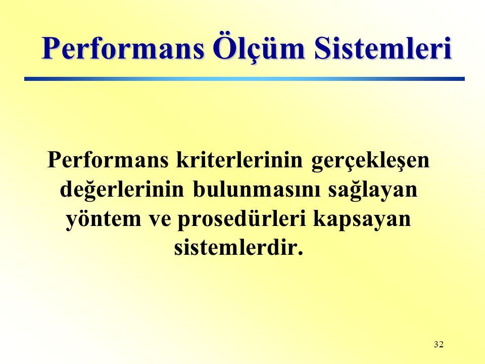 Performans Ölçüm Sistemleri
