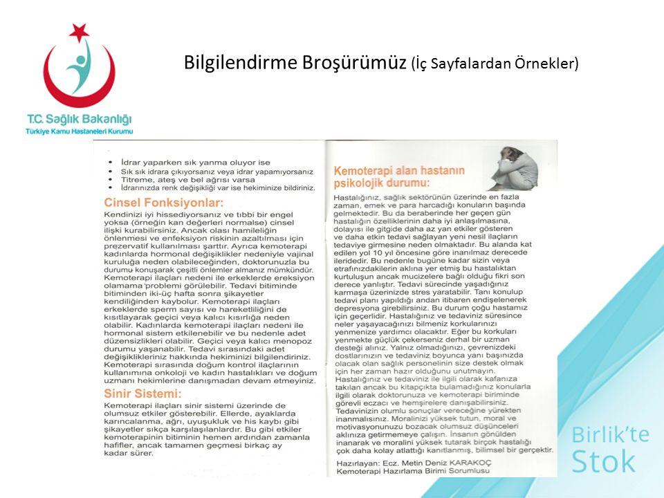 Bilgilendirme Broşürümüz (İç Sayfalardan Örnekler)