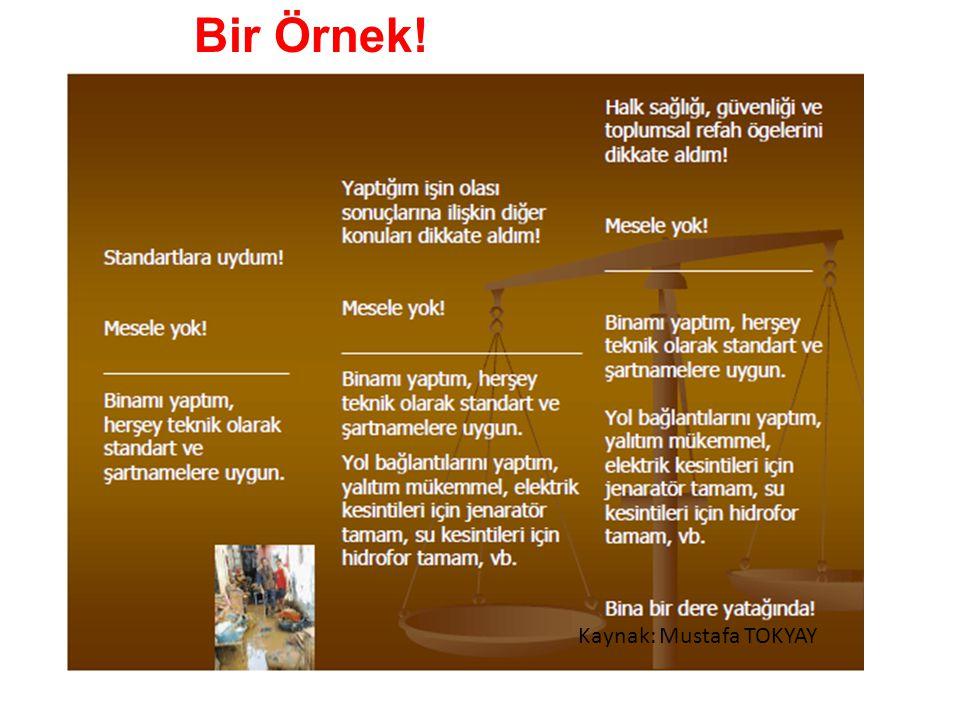 Bir Örnek! Kaynak: Mustafa TOKYAY