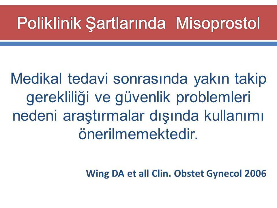 Poliklinik Şartlarında Misoprostol