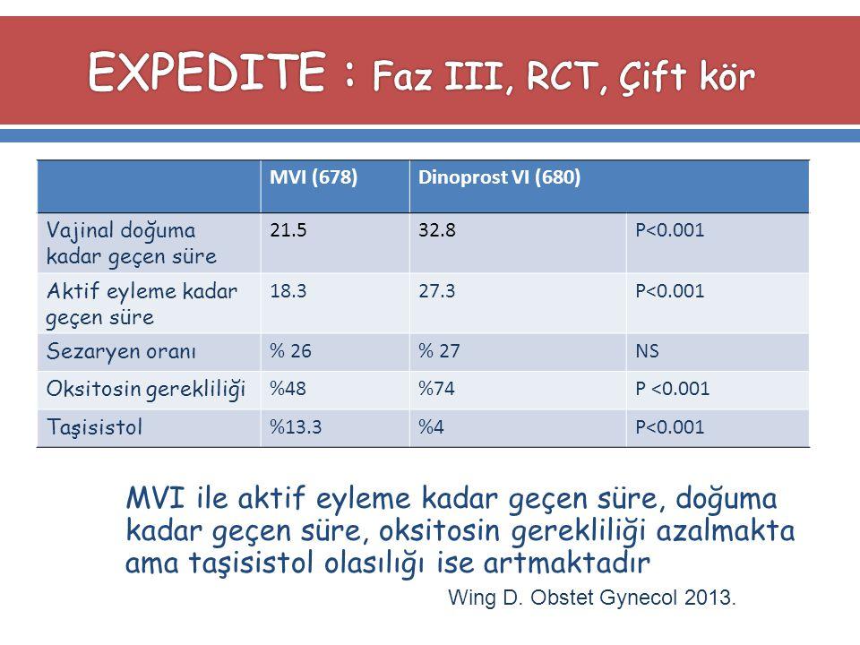 EXPEDITE : Faz III, RCT, Çift kör