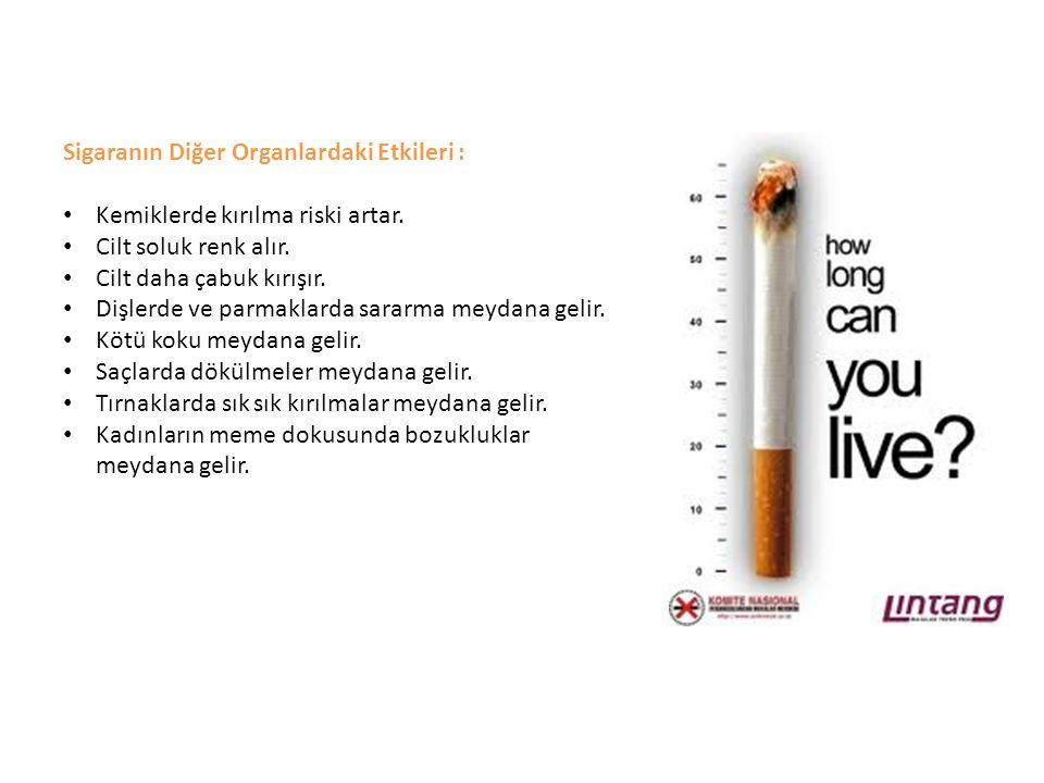 Sigaranın Diğer Organlardaki Etkileri :
