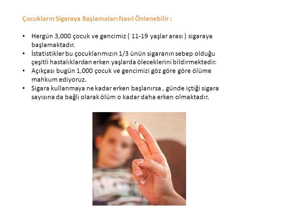 Çocukların Sigaraya Başlamaları Nasıl Önlenebilir :