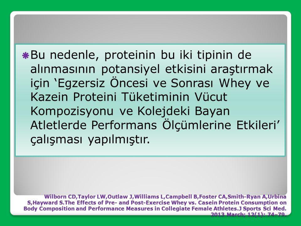 Bu nedenle, proteinin bu iki tipinin de alınmasının potansiyel etkisini araştırmak için 'Egzersiz Öncesi ve Sonrası Whey ve Kazein Proteini Tüketiminin Vücut Kompozisyonu ve Kolejdeki Bayan Atletlerde Performans Ölçümlerine Etkileri' çalışması yapılmıştır.