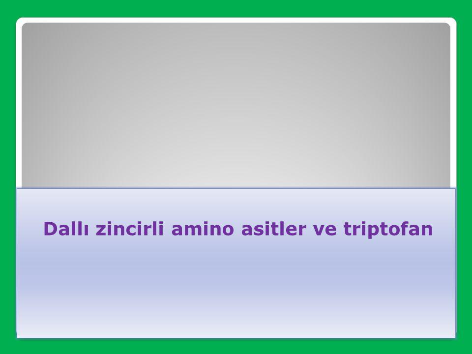Dallı zincirli amino asitler ve triptofan