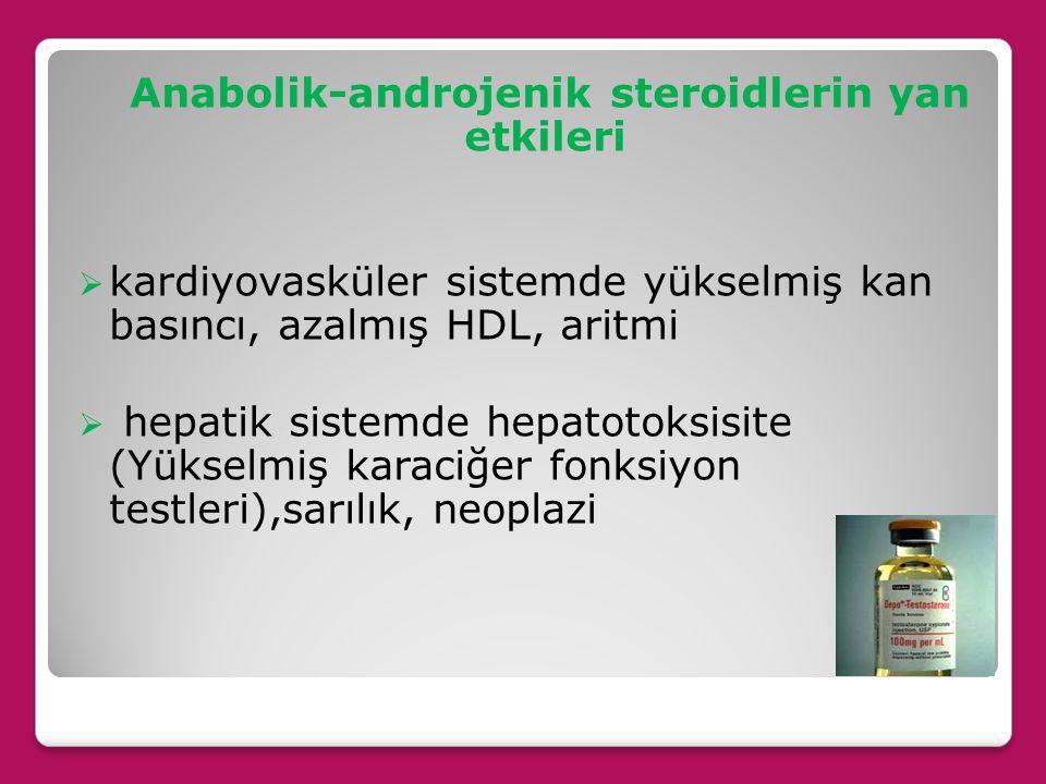 Anabolik-androjenik steroidlerin yan etkileri