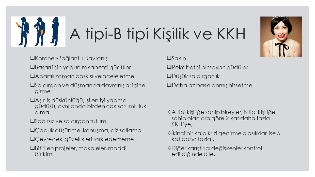 A tipi-B tipi Kişilik ve KKH