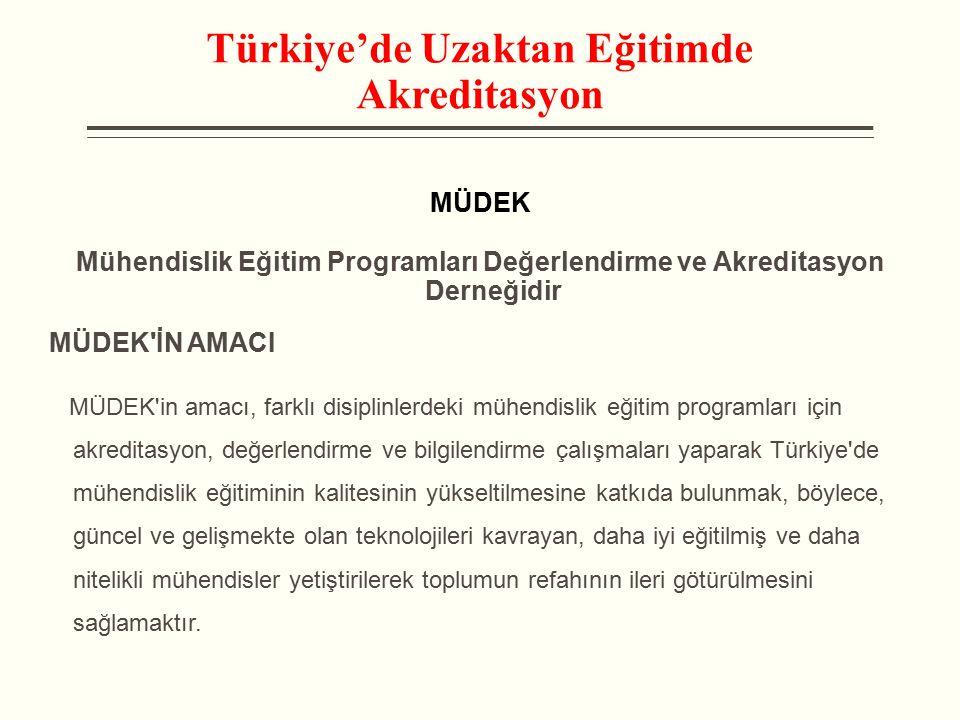 Türkiye'de Uzaktan Eğitimde Akreditasyon