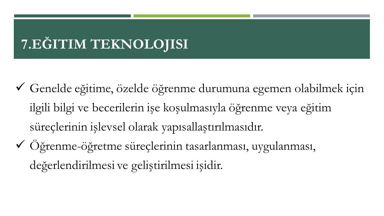 7.Eğitim Teknolojisi