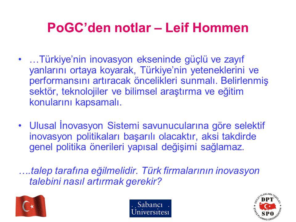 PoGC'den notlar – Leif Hommen