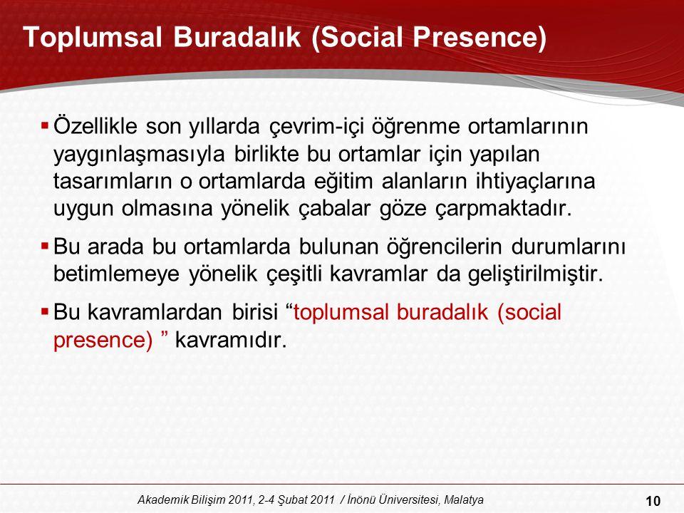 Toplumsal Buradalık (Social Presence)