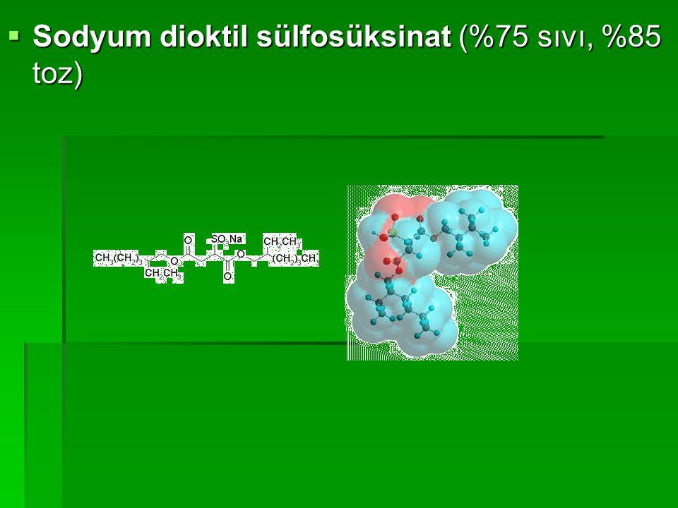 Sodyum dioktil sülfosüksinat (%75 sıvı, %85 toz)
