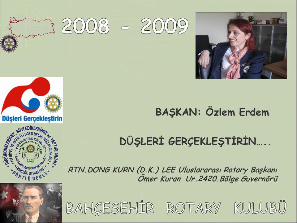 2008 - 2009 BAŞKAN: Özlem Erdem DÜŞLERİ GERÇEKLEŞTİRİN…..