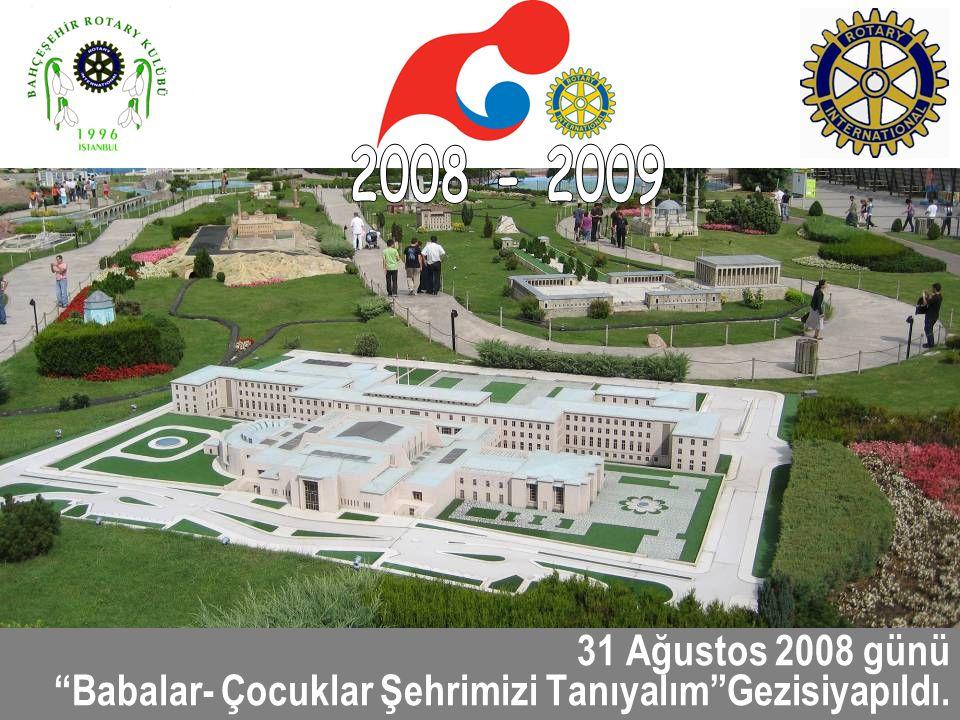 2008 - 2009 31 Ağustos 2008 günü Babalar- Çocuklar Şehrimizi Tanıyalım Gezisiyapıldı.