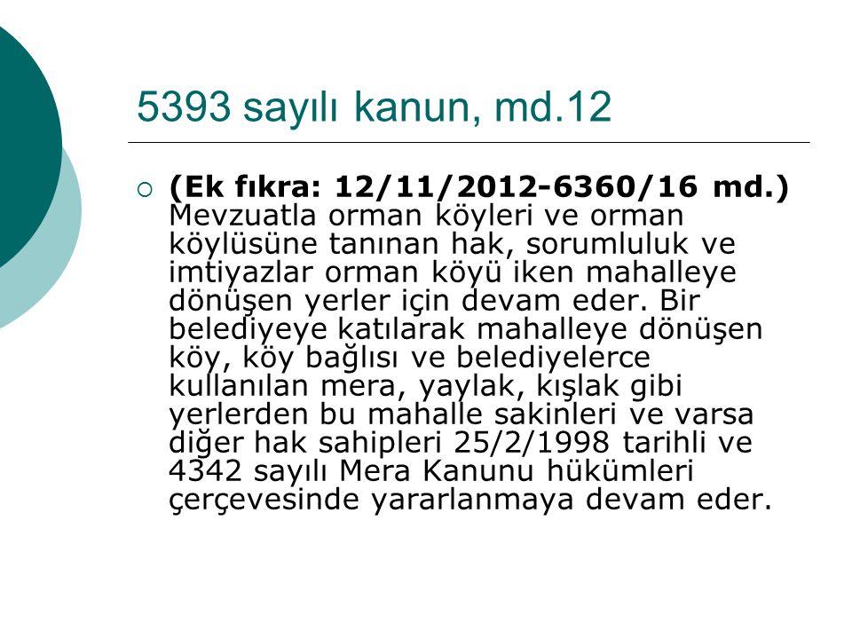 5393 sayılı kanun, md.12