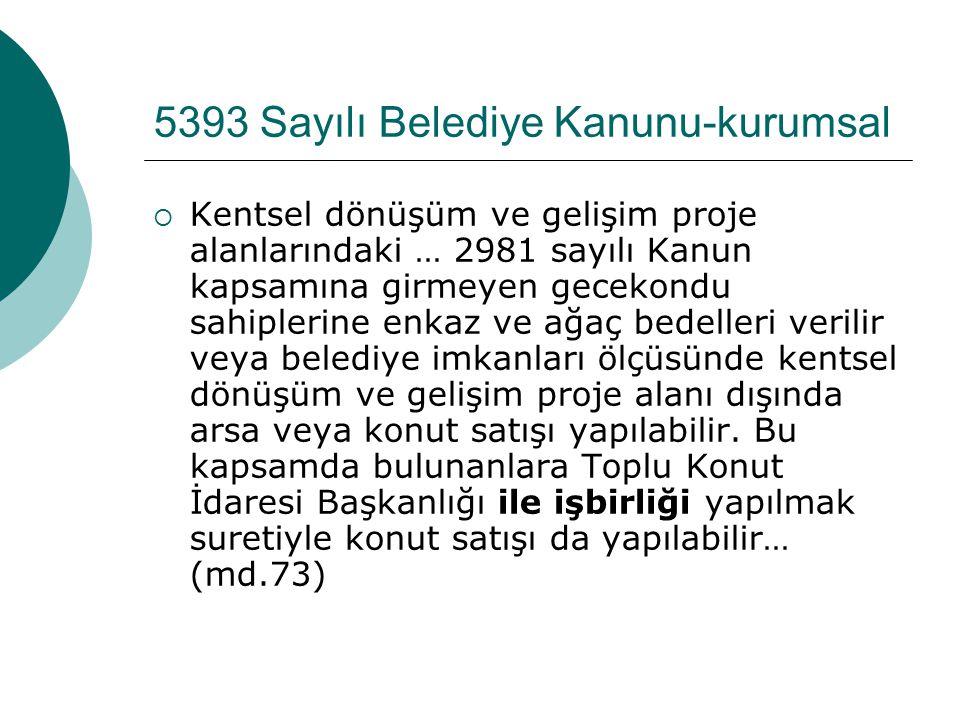 5393 Sayılı Belediye Kanunu-kurumsal