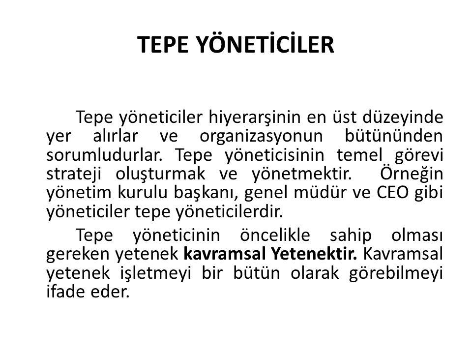 TEPE YÖNETİCİLER