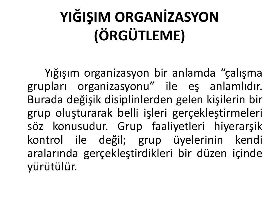 YIĞIŞIM ORGANİZASYON (ÖRGÜTLEME)