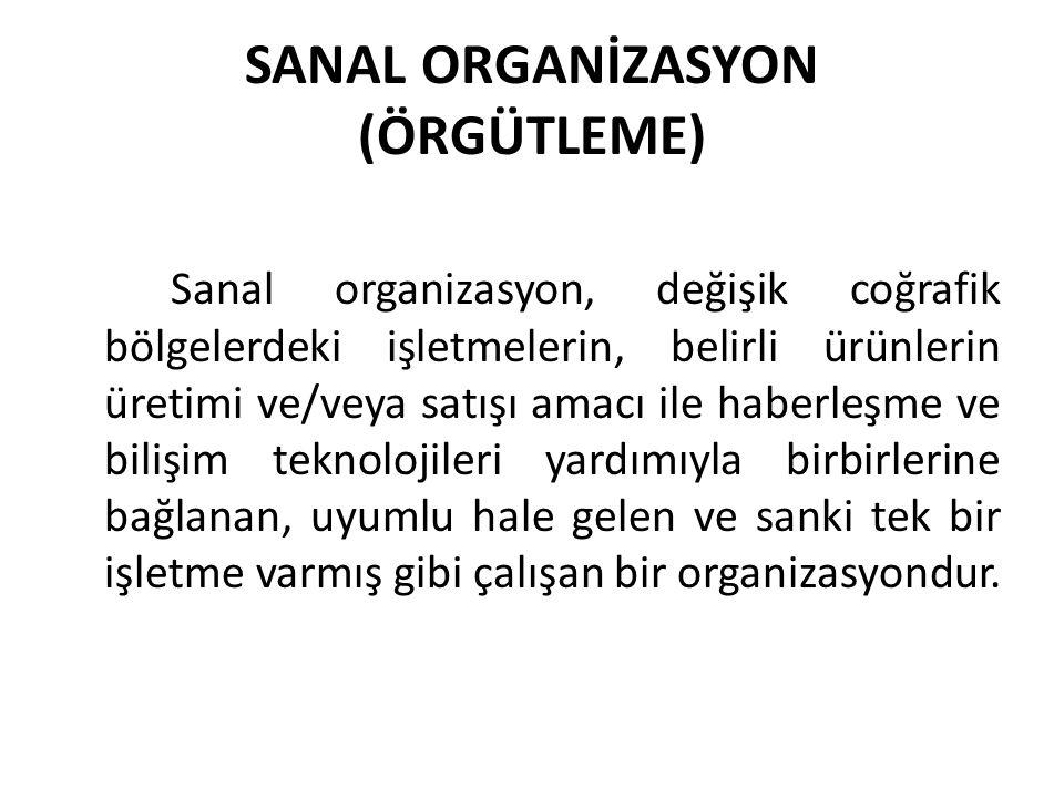 SANAL ORGANİZASYON (ÖRGÜTLEME)
