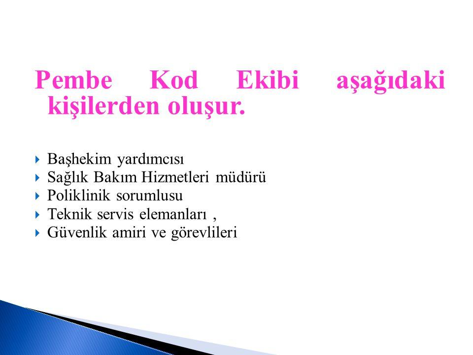 Pembe Kod Ekibi aşağıdaki kişilerden oluşur.