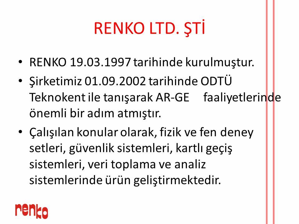 RENKO LTD. ŞTİ RENKO 19.03.1997 tarihinde kurulmuştur.