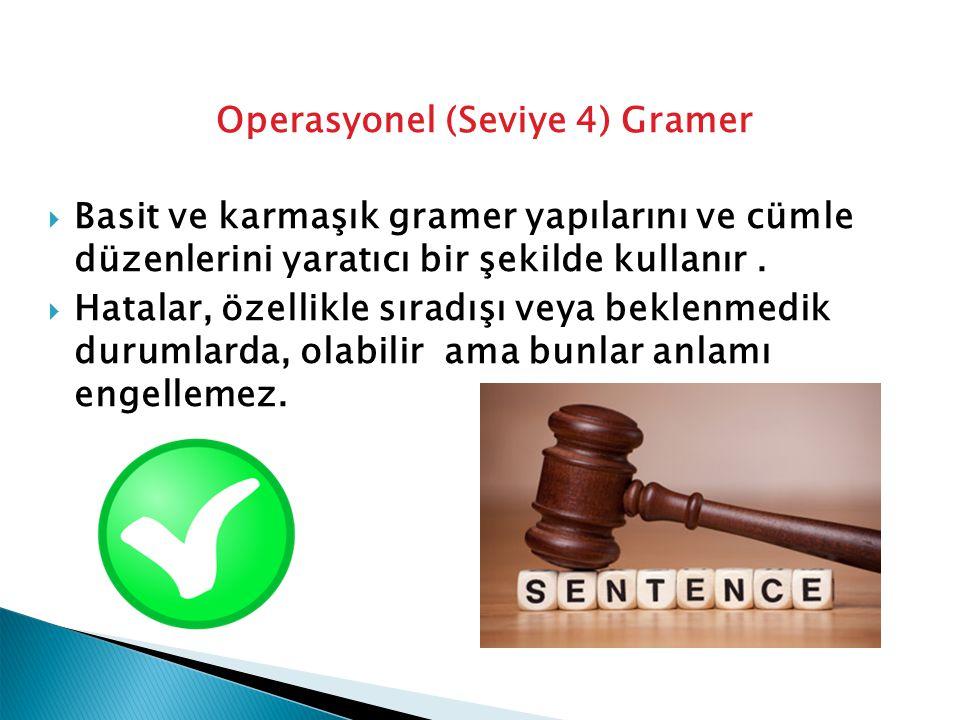 Operasyonel (Seviye 4) Gramer
