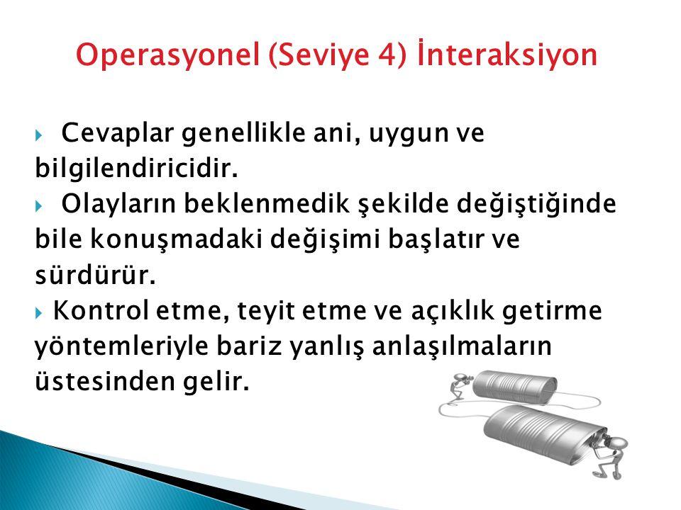 Operasyonel (Seviye 4) İnteraksiyon