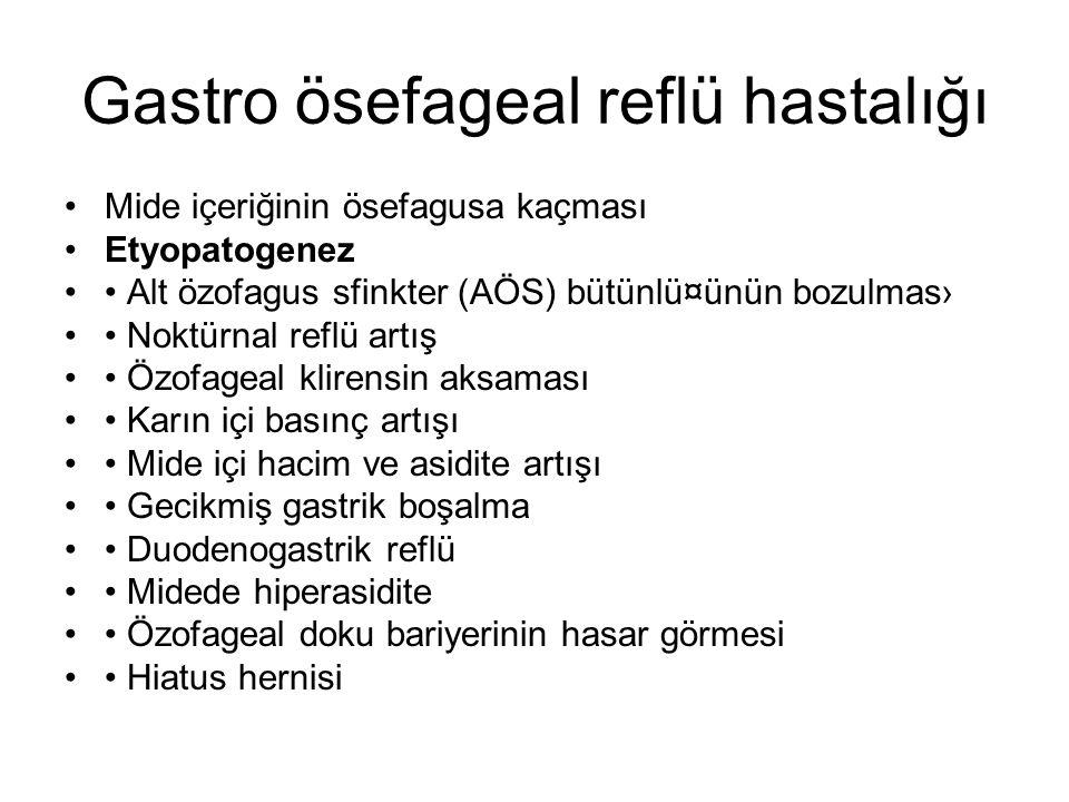 Gastro ösefageal reflü hastalığı