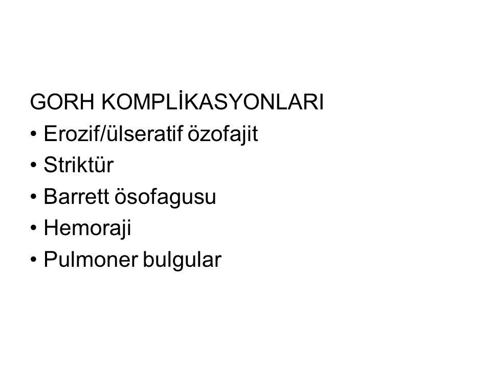 GORH KOMPLİKASYONLARI