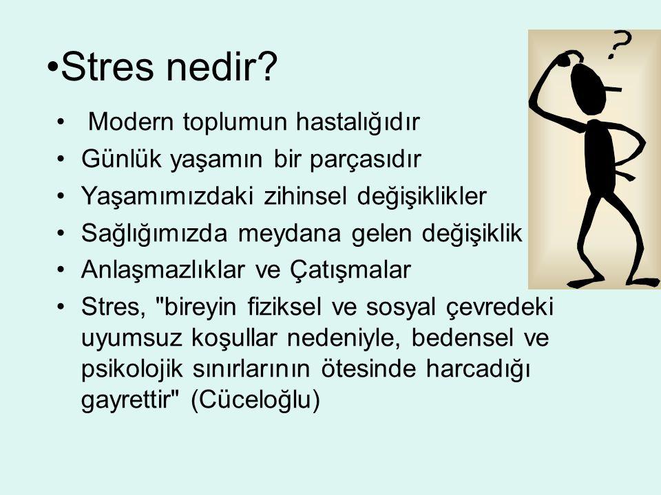 Stres nedir Modern toplumun hastalığıdır
