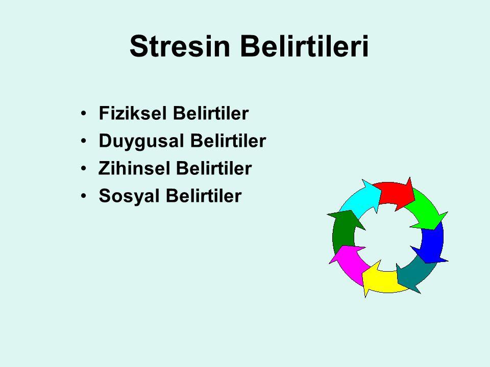 Stresin Belirtileri Fiziksel Belirtiler Duygusal Belirtiler