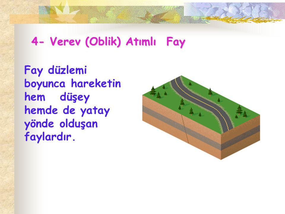 4- Verev (Oblik) Atımlı Fay
