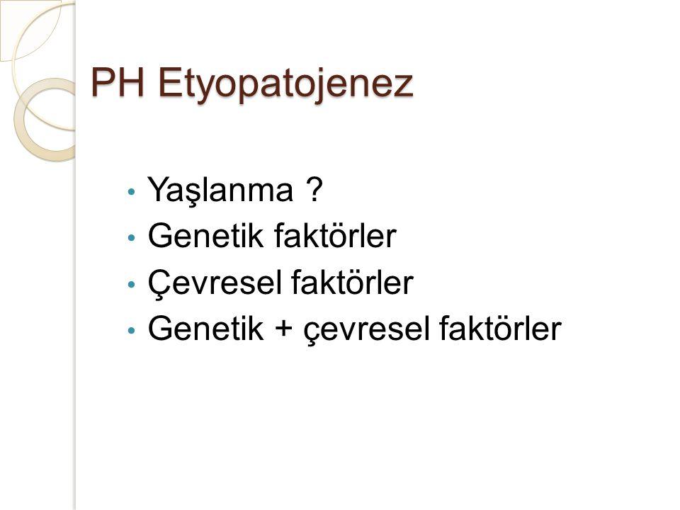 PH Etyopatojenez Yaşlanma Genetik faktörler Çevresel faktörler