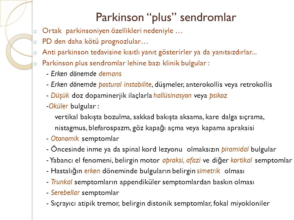 Parkinson plus sendromlar