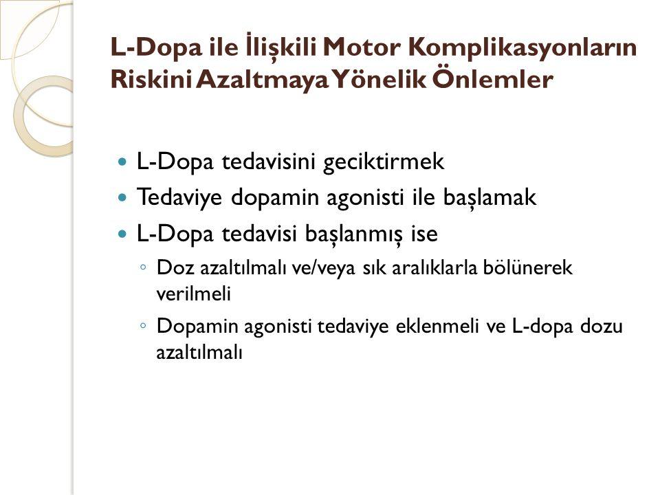 L-Dopa ile İlişkili Motor Komplikasyonların Riskini Azaltmaya Yönelik Önlemler