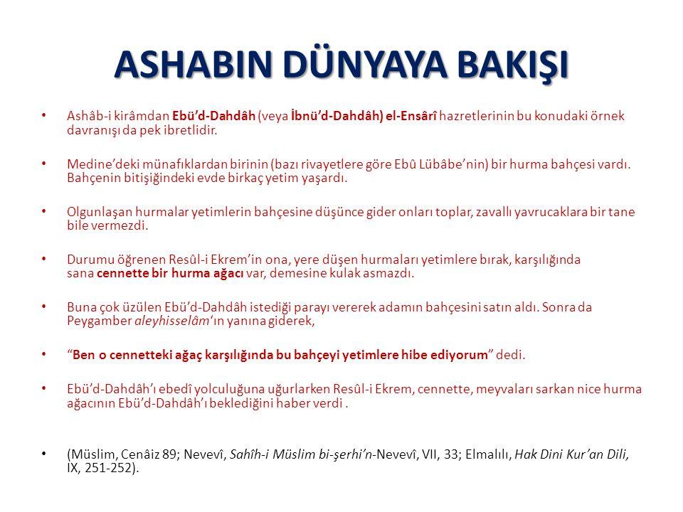 ASHABIN DÜNYAYA BAKIŞI