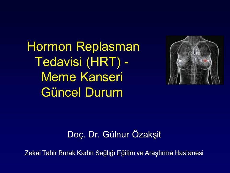 Hormon Replasman Tedavisi (HRT) - Meme Kanseri Güncel Durum