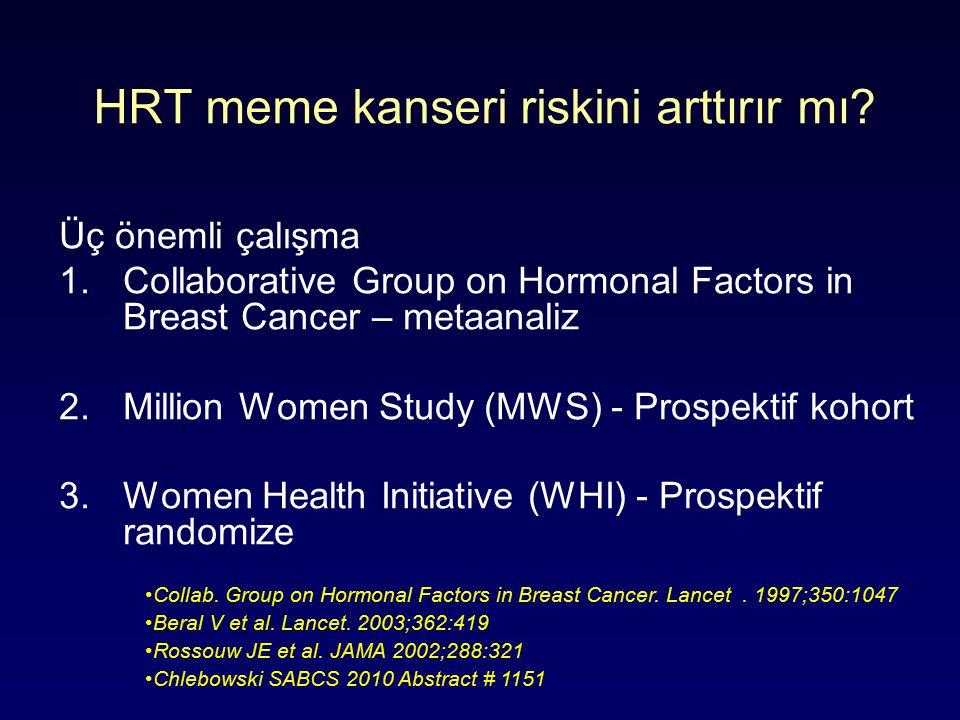 HRT meme kanseri riskini arttırır mı