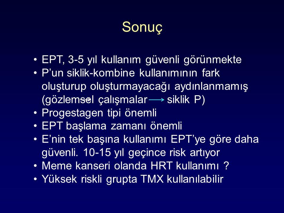 Sonuç EPT, 3-5 yıl kullanım güvenli görünmekte