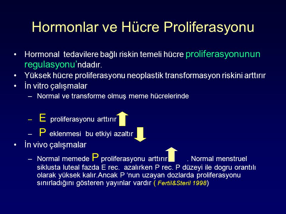 Hormonlar ve Hücre Proliferasyonu