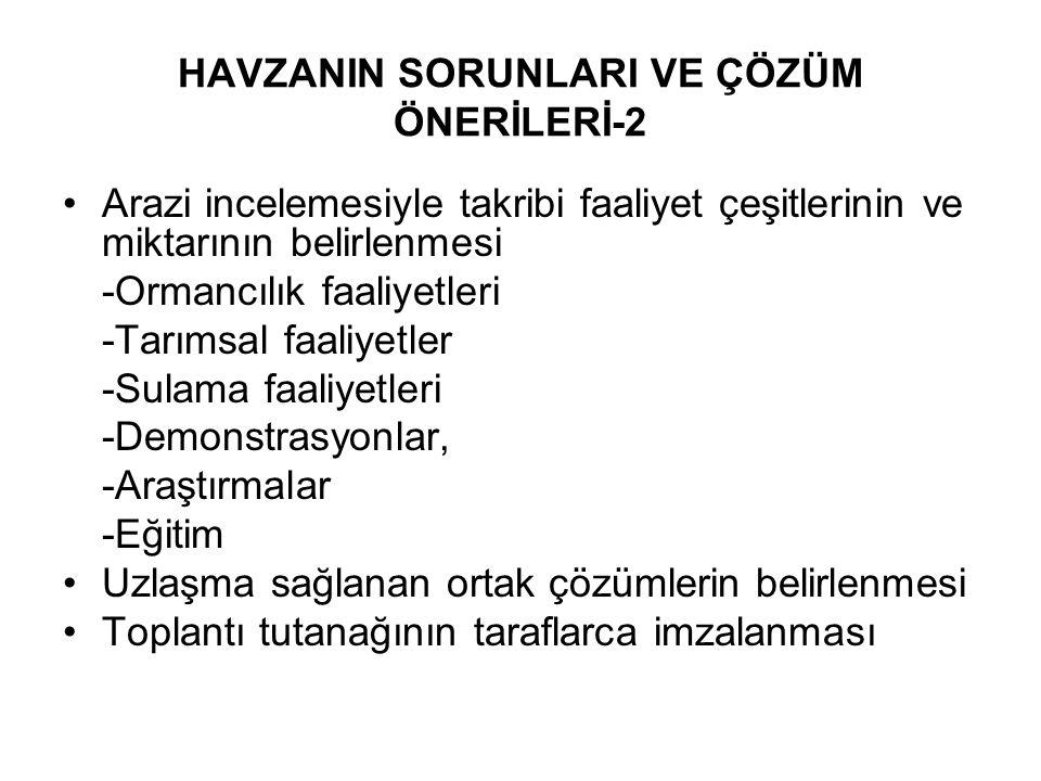 HAVZANIN SORUNLARI VE ÇÖZÜM ÖNERİLERİ-2