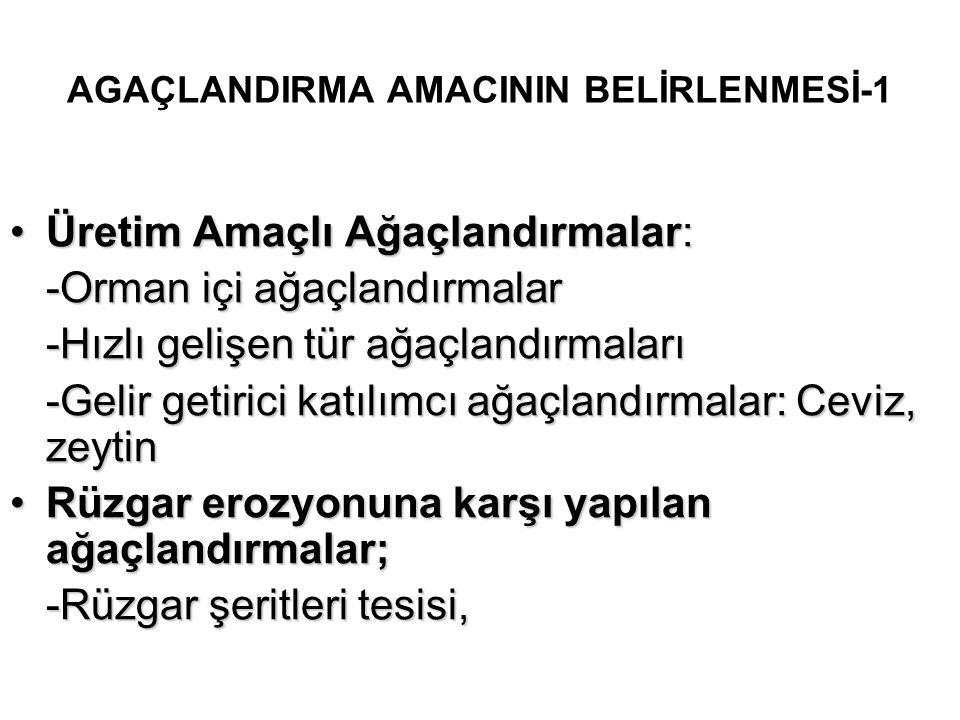 AGAÇLANDIRMA AMACININ BELİRLENMESİ-1