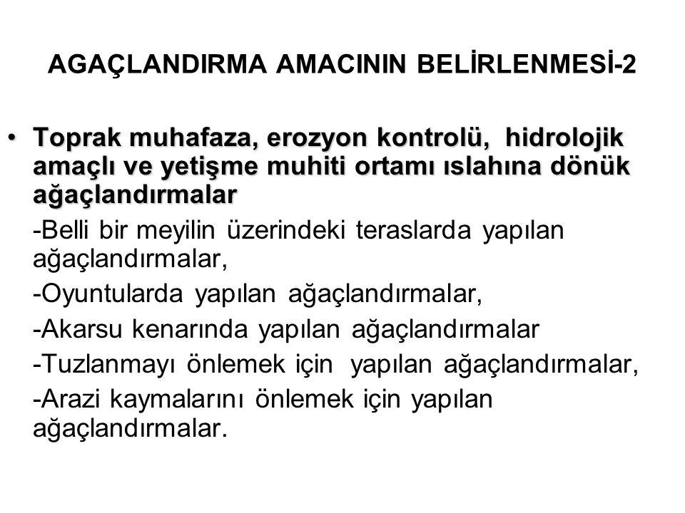 AGAÇLANDIRMA AMACININ BELİRLENMESİ-2