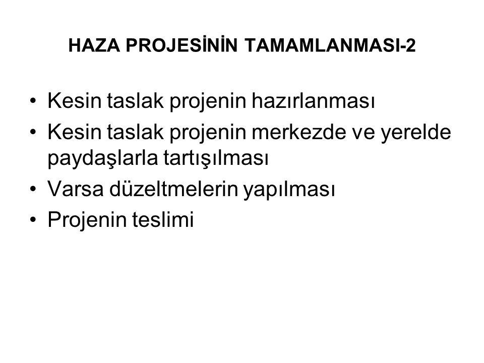 HAZA PROJESİNİN TAMAMLANMASI-2